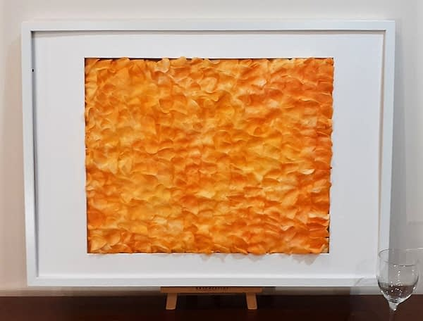 "Painting ""Sport! of what colour?"" by W2W. Alternative view in a white frame"